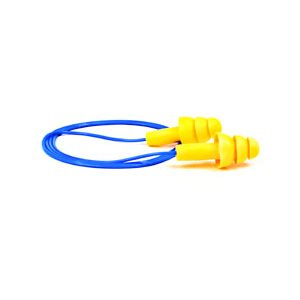 E-A-R UltraFit Corded Earplugs 340-4004, Hearing Conservation, in Poly Bag, 400 PR / Case