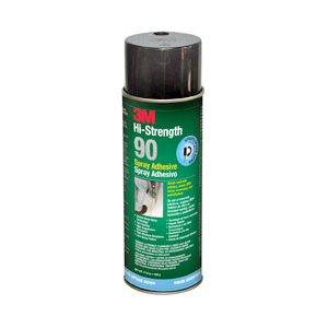 Hi-Strength 90 Spray Adhesive Clear, 24 fl Ounce Aerosol, 12 cans per case