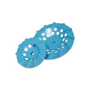00036 - 4 X 5 / 8-11 STAR BLUE SPIRAL TURBO CUP 10 SEG