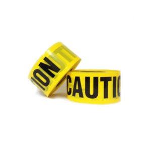 "865 Yellow Caution Tape 3"" x 1000'"
